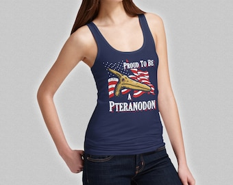 Proud To Be A Pteranodon Ladies Dinosaur Tank Top