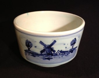 Blue and White Delft Footed Planter or Bowl