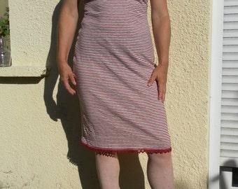 Cotton and organic hemp strap and lace dress
