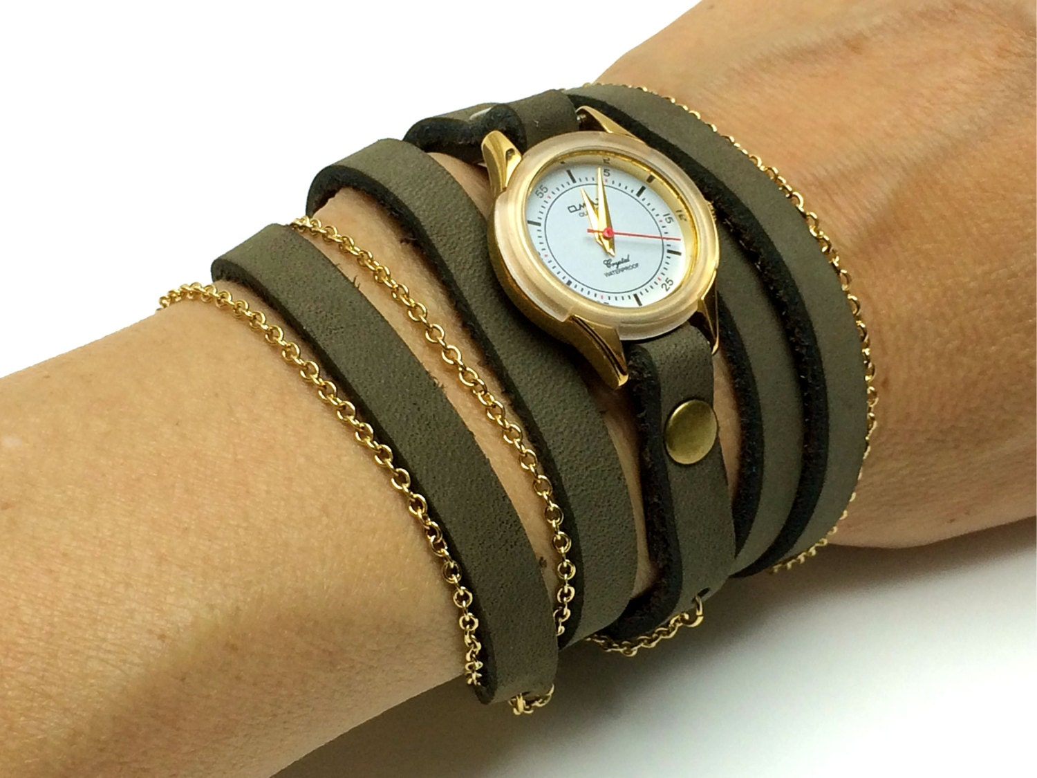 olive green s wrap watches wrap
