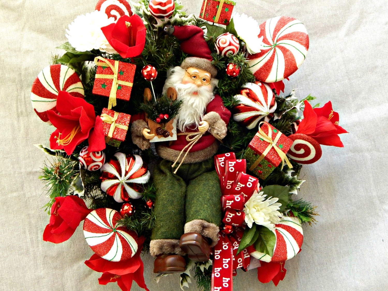 Front door wreathgrapevine christmas wreath by for Front door xmas wreaths