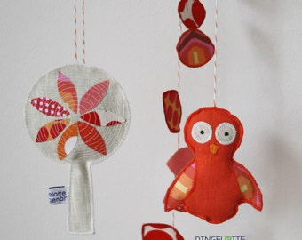 OWL mobile - child mobile baby nursery decoration - owl