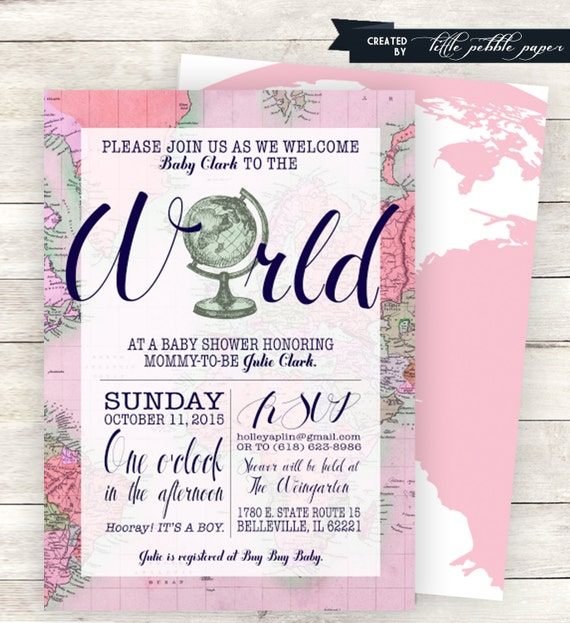 Italian Boy Name: Pink Welcome To The World Baby Shower Invitation Printable
