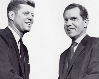 John F. Kennedy vs Richard Nixon Poster, Political Advertising, Presidential Debates 1960