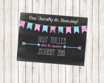 SALE 50% OFF Custom Pregnancy Announcement