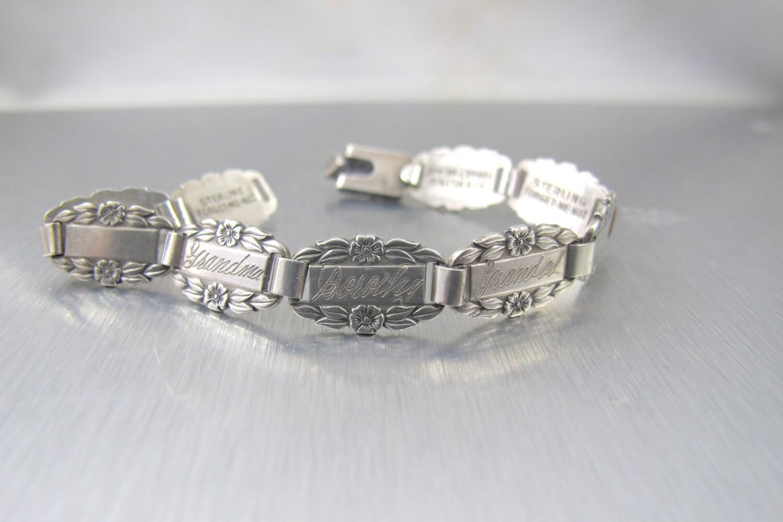 on hold vintage forget me not bracelet sterling silver