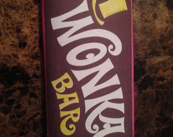 Willy Wonka Full Size Candy Bar Wrapper and Contract