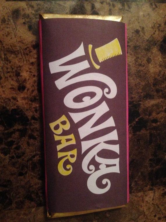 willy wonka chocolate bar wrapper pdf
