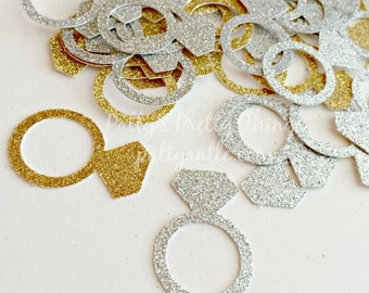 Glitter Diamond Rings, Glitter Rings, Engagement Ring Confetti, Ring Confetti, Wedding Rings