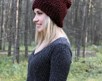Slouchy Textured Beanie / Warm Winter Hat / The McKenzie Beanie