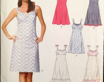 New Look 6676 - Empire Waisted Summer Dress with Surplice Bodice Option - Size 6-16