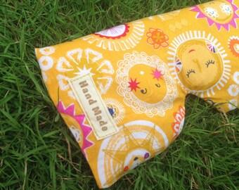 Yellow Sun Eye Pillow -  Lavender Eye Pillow -  Yoga and Meditation Eye Pillow - Relaxing Eye Pillow