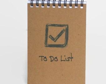Small Spiral Notebook, 3.5 x 5 Notepad, Memo Pad - To Do List, Jot Down List Notebook, Mini Notebook