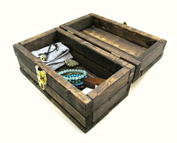 Made to order rustic small storage box by independentboxworks - Small rustic wooden boxes ...