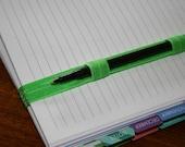 Green Pen Holder & Planner Band / Erin Condren Life Planner, Plum Paper, Limelife