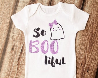 Baby's First Halloween, Halloween Onesie, So BOO tiful, Girl Outfit, Halloween Costume, Fall, Glitter Shirt, Baby Halloween, Sparkle