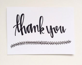 Thank You Leaves -  Set of 8 - Back Lettering