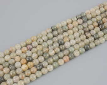 Green Rutilated Quartz, Faceted Round Round,Full Strand