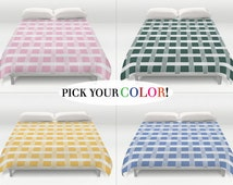 Plaid Duvet Cover, Checkered Comforter, King Queen Full Twin, Size, Bed Cover, Plaid Bedding, Duvet Cover, Checkered Duvet, Plaid Bed Cover