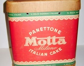 MOTTA 60s made in italy - big paper box for to send cakes with postal service excellent perfumed