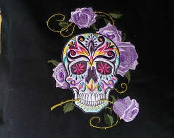 "Cushion cover-Skull-""Dia de los Muertos"""