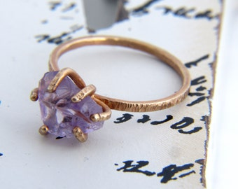 Raw Amethyst Ring   Gold Ring   Raw Stone & Crystal Ring   Healing Crystal Ring   Engagement Ring   Birthday Gift for Her