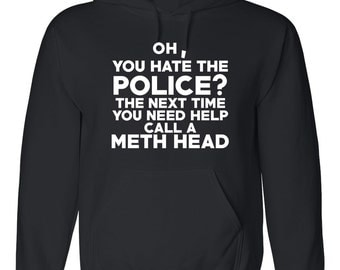 Police Hoodie - Police Sweatshirt - Police Sweater - Thin Blue Line - Police Officer - Law Enforcement - Police Wife - Police Gift