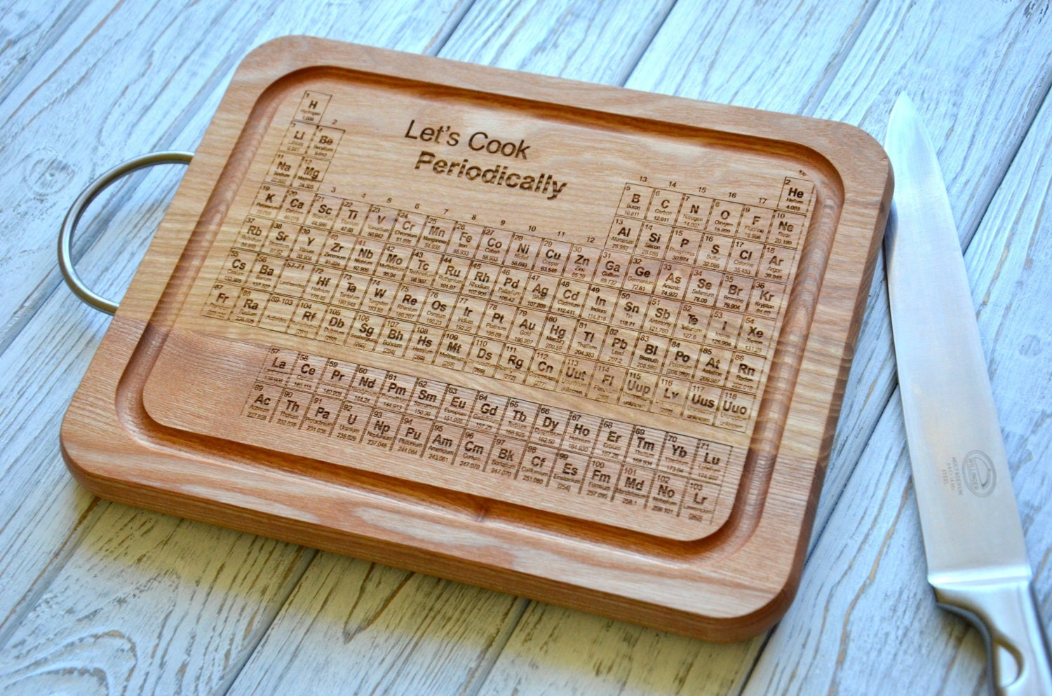 Student graduation gift periodic table cutting board wooden - Periodic table chopping board ...