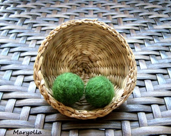 20mm Felt Balls, 100% Wool Felted Balls, 20+ Wool Felt Balls, Green Felt Pom Poms, Green Pompoms, Handmade Felt Balls, Handmade Pompoms