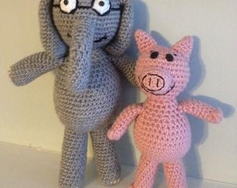 Gerald & Piggie Crochet Patterns