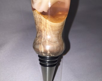 Wine Bottle Stopper - Sunkist Hybridwood and Acrylic