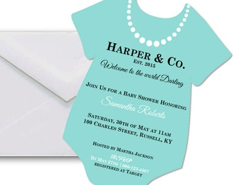 Tiffany's Baby Shower Invitation - Tiffany Baby Shower