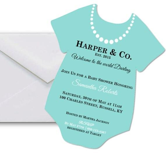 Tiffany's Baby Shower Invitation Tiffany By