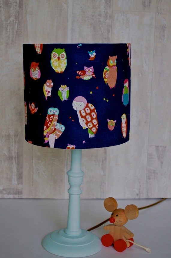 navy blue lamp navy lamp shade lampshade by shadowbrightlamps. Black Bedroom Furniture Sets. Home Design Ideas