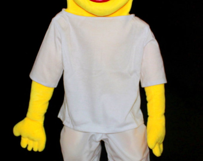 "New Black light puppet. Large 30"" Full/Half Body Puppet w/ 3 Changeable Wigs. Professional Puppets!"
