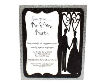Engagement Party Wedding Party Bridal Party Invitation - Custom Invitations