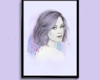 Katy Perry Illustration Print