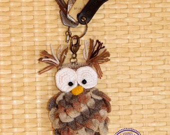 Keychain Owl crochet,Keychain handmade,Cute keychain,Owl pendant, original keychain,owl handmade,amigurumi owl,miniature owl,READY to ship
