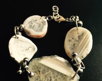 Cut Mineral Bracelet