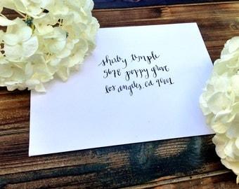 """Wedding Calligraphy Envelope Addressing/ Save the date Calligraphy Envelope Addressing/ Hand Lettered/Custom Wedding Address """"Shirley"""" Style"""