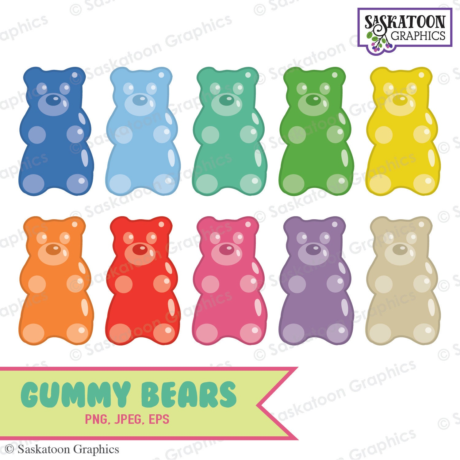 gummy bear clipart instant download file digital gummy bear clip art printable gummy bear clip art red