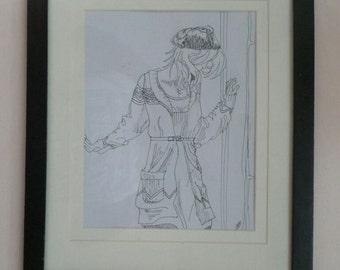 "Original ink drawing: ""Nefelibata"""