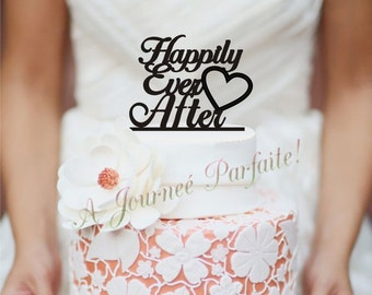 "Wedding Cake Topper ""Happily Ever After"" or Table Sign [AJP8]"