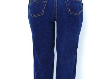 Vintage Jeans Bon Jour Jeans Indigo Straight Leg High Waist 26 x 32