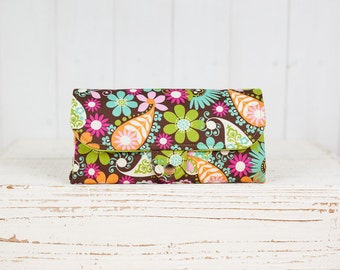 SmartPhone Purse 12x - Ultimate Wallet Clutch with ID pocket / Flower Carnival -- PREORDER