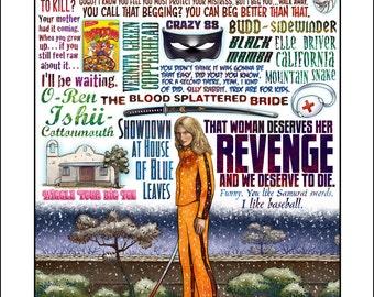 Revenge- A Kill Bill tribute signed print