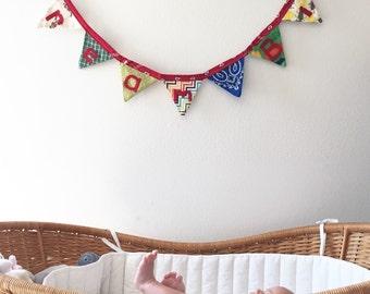 Nursey Banner, Dream Big, Fabric Banner, Nursery Decor, Home Decor, Cloth Flag, Pennant Bunting, Baby Shower Gift, Ready to Ship