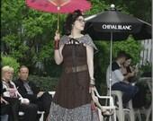 SALE - Dress - Steampunk - Burning Man - Playa Wear - Bohemian Goth - Cosplay - Strapless - Sexy Long Gypsy Dress - Size Medium
