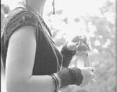 Dress - Steampunk - Bohemian Gypsy - Short - A line Dress - Burning Man - Boho Ruffles - Sexy - Knee High - Size X- Small