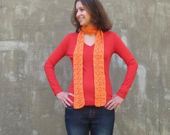 Orange beaded scarf